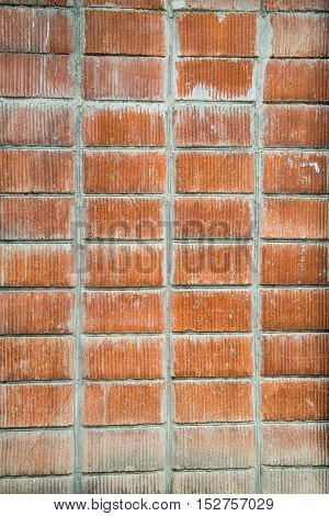 Red brick wall Background. Vintage texture Background