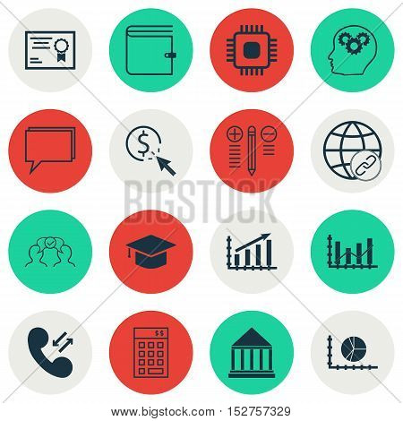 Set Of 16 Universal Editable Icons For Seo, Human Resources And Advertising Topics. Includes Icons S