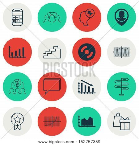 Set Of 16 Universal Editable Icons For Airport, Human Resources And Advertising Topics. Includes Ico