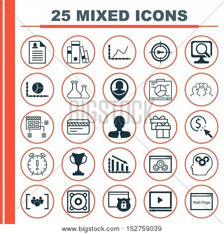 Set Of 25 Universal Editable Icons For Travel, Human Resources And Project Management Topics. Includ