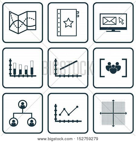 Set Of 9 Universal Editable Icons For Marketing, Human Resources And Airport Topics. Includes Icons