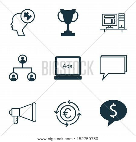 Set Of 9 Universal Editable Icons For Human Resources, Seo And Project Management Topics. Includes I