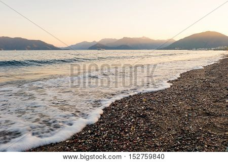 Sea Wave On A Beach And Scenery
