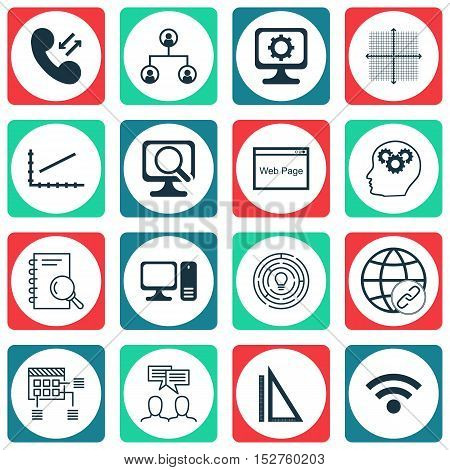 Set Of 16 Universal Editable Icons For Statistics, Human Resources And Education Topics. Includes Ic