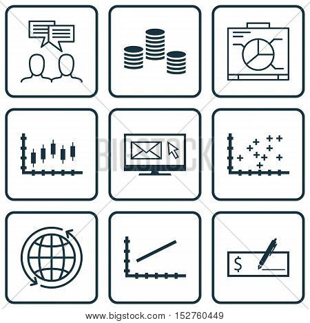 Set Of 9 Universal Editable Icons For Human Resources, Project Management And Statistics Topics. Inc