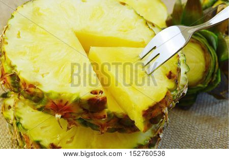 Nutrition Facts and Health Benefits of Ananas comosus.