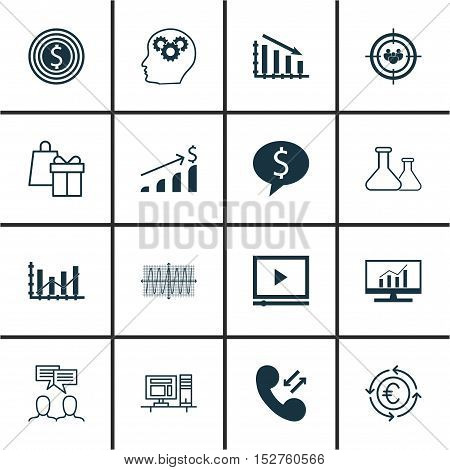 Set Of 16 Universal Editable Icons For Airport, Seo And Human Resources Topics. Includes Icons Such