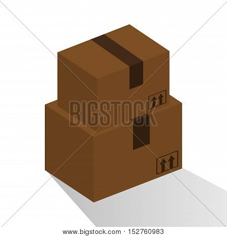Package icon. Delivery shipping and logistic theme. Colorful design. Vector illustration