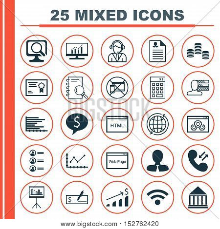Set Of 25 Universal Editable Icons For Human Resources, Airport And Advertising Topics. Includes Ico