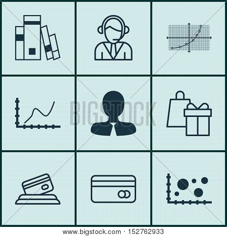 Set Of 9 Universal Editable Icons For Human Resources, Statistics And Airport Topics. Includes Icons