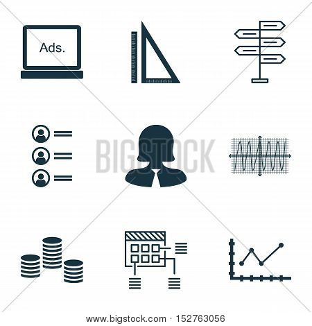 Set Of 9 Universal Editable Icons For Education, Marketing And Project Management Topics. Includes I