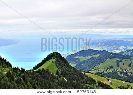 Scenic View Of The Swiss Mountains