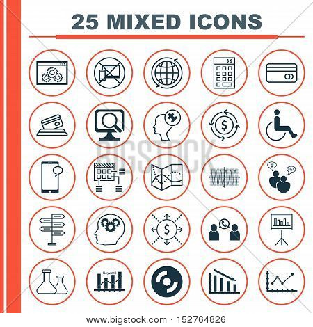 Set Of 25 Universal Editable Icons For Advertising, Human Resources And Travel Topics. Includes Icon