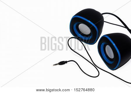 modern speakers computer isolated on white background