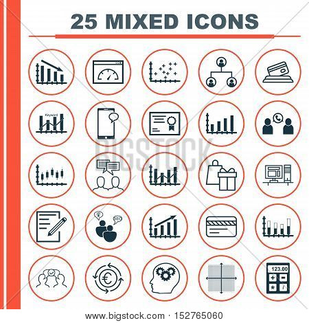 Set Of 25 Universal Editable Icons For Project Management, Seo And Business Management Topics. Inclu