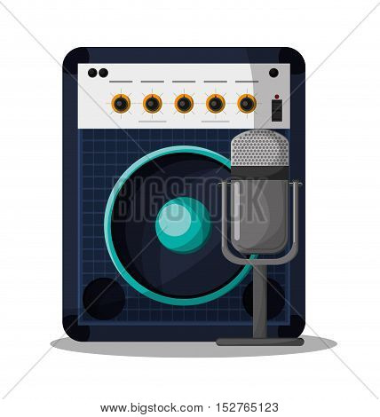 Speaker icon. Music sound musical and communication theme. Colorful design. Vector illustration