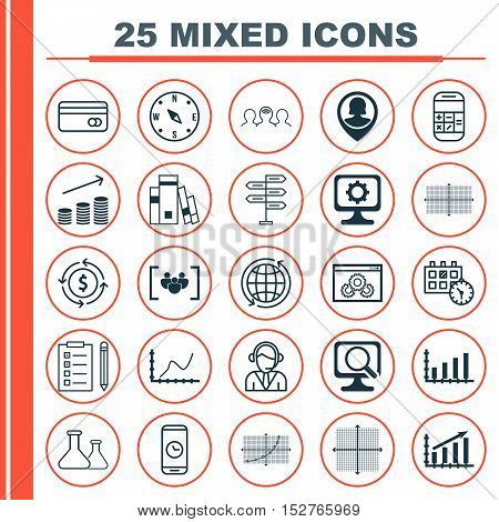 Set Of 25 Universal Editable Icons For Education, Computer Hardware And Traveling Topics. Includes I