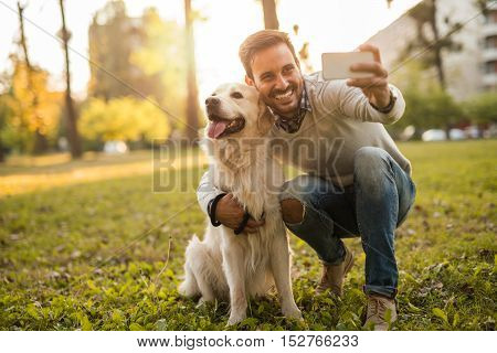 Selfie With His Best Buddy