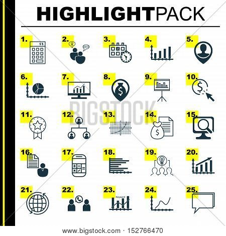 Set Of 25 Universal Editable Icons For Management, Travel And Computer Hardware Topics. Includes Ico