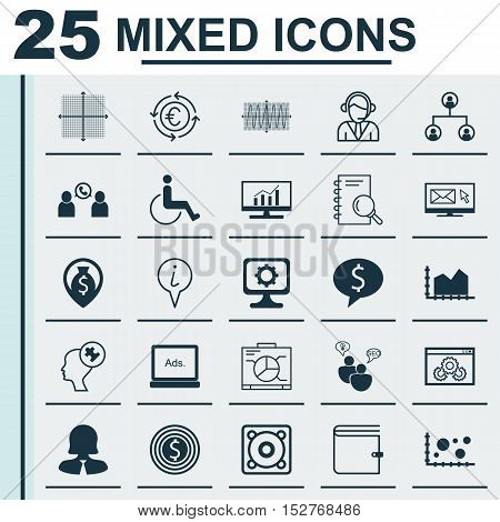 Set Of 25 Universal Editable Icons For Travel, Airport And Advertising Topics. Includes Icons Such A