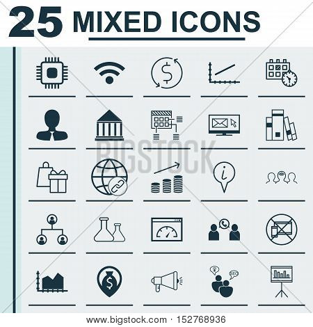 Set Of 25 Universal Editable Icons For Traveling, Seo And Statistics Topics. Includes Icons Such As