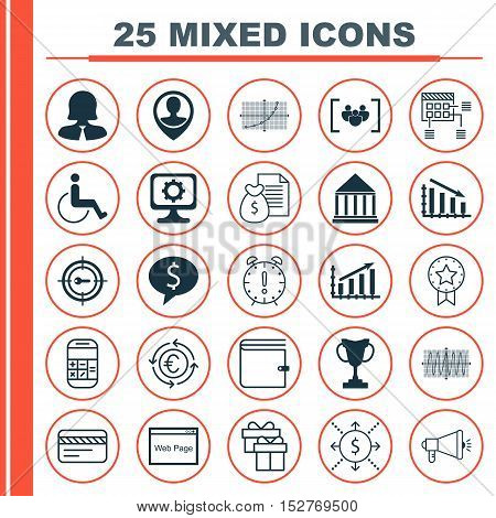 Set Of 25 Universal Editable Icons For Advertising, Project Management And Hr Topics. Includes Icons
