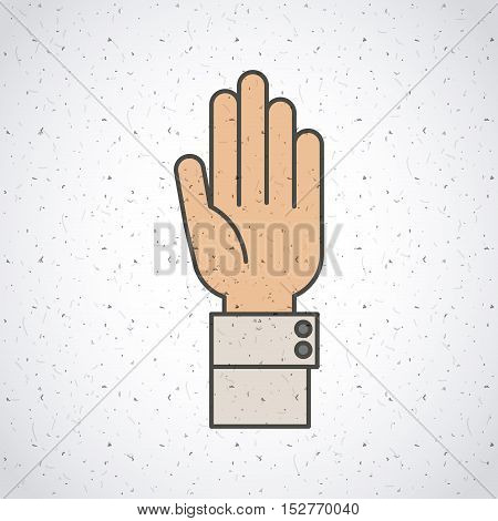 Hand gesture icon. Palm human people and communication theme. Colorful and isolated design. Vector illustration