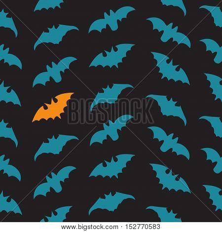 Halloween Seamless pattern with bats. Vector illustration.