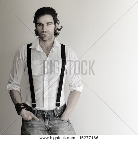 Man In Suspenders