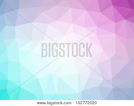 Abstract Purple Blue Gradient Polygon Shaped Background
