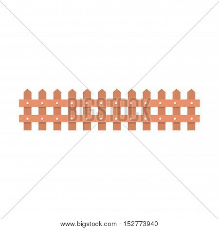 wooden fence icon over white background. vector illustration