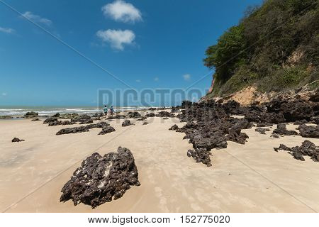 Madeiro Beach, Located In Pipa District Is A Famous Beach In Brazil