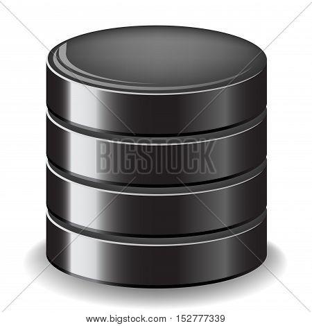 Illustration of database server icon on white background