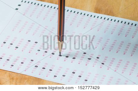 fill in Exam carbon paper with pencil