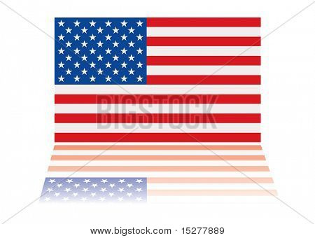 american us flag with red white and blue stars and stripes