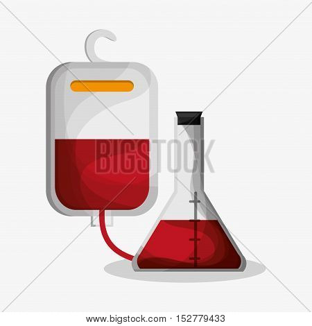 Flask icon. Medical and health care theme. Colorful design. Vector illustration