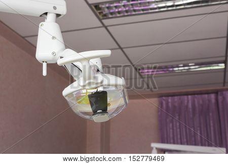 Lamp medical equipment Select focus with shallow depth of field in the dental clinic