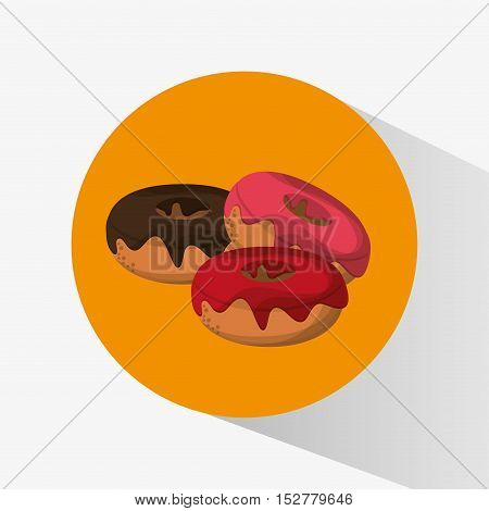Donuts icon. Fast food menu and market theme. Colorful design. Vector illustration
