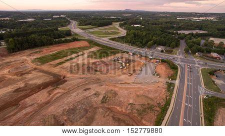 Construction of new homes in Atlanta Georgia