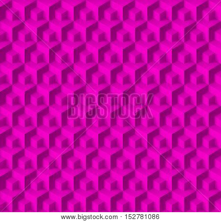 Abstract geometric background with cubes in pink