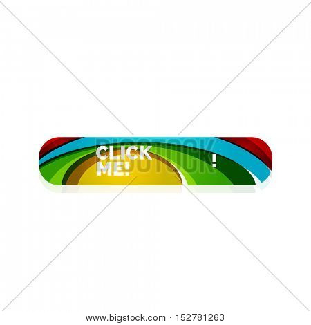 Vector abstract button template. Minimalistic geometric clean style