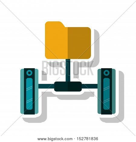 File icon. Data base center and web hosting theme. Isolated design. Vector illustration
