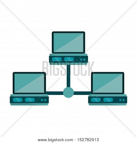 Laptop icon. Data base center and web hosting theme. Isolated design. Vector illustration