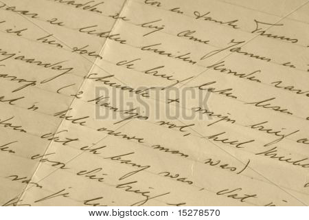 Old handwritten letter