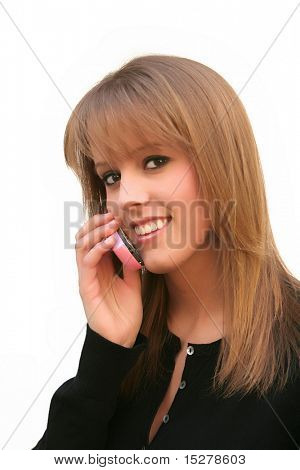 Young woman talking on her cellphone