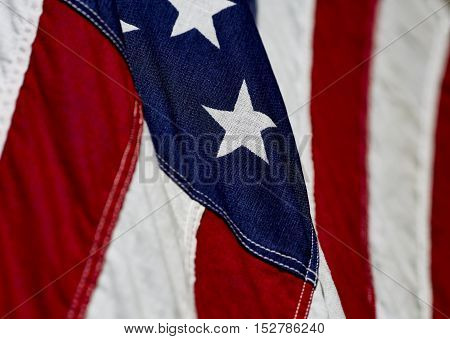 Close Up Of An Amercian Flag