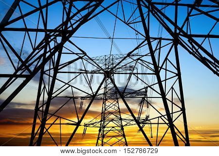 Transmission equipment high - voltage transmission tower steel structure.
