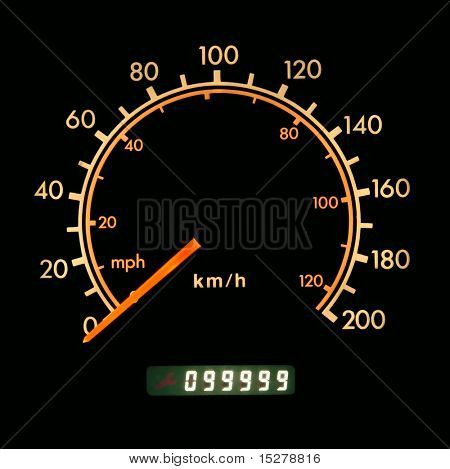 Odometer at 99999 kilometers