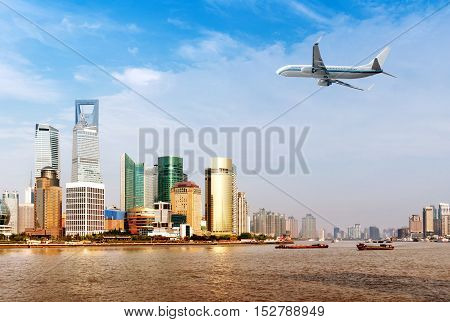 China Shanghai Pudong New Area the Lujiazui financial district.
