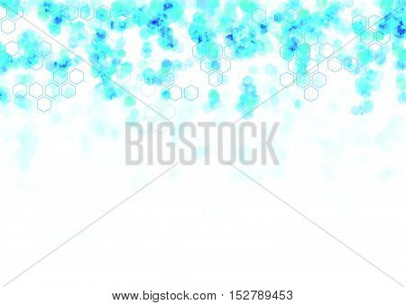 geometric Hexagon abstract vector background science blue